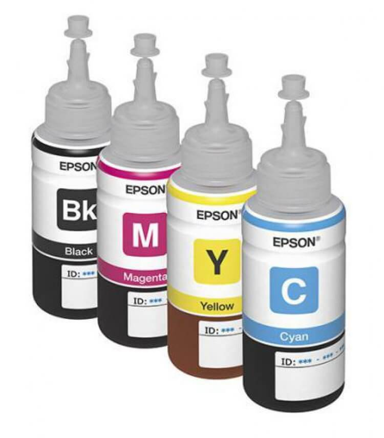изображение Оригинальные чернила для Epson L382 (70 мл, 4 цвета)